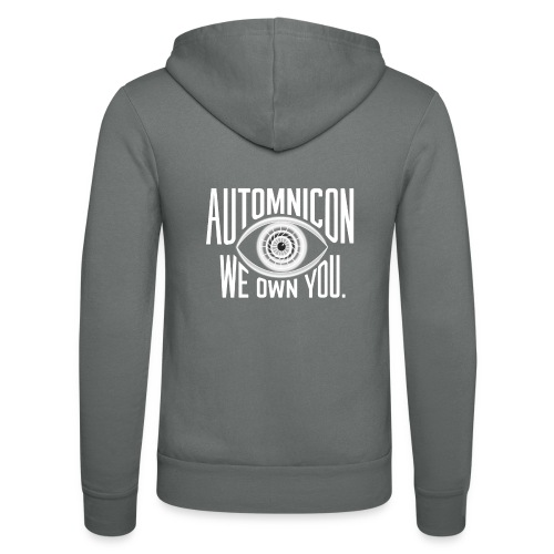 White Automnicon Logo - Unisex Hooded Jacket by Bella + Canvas