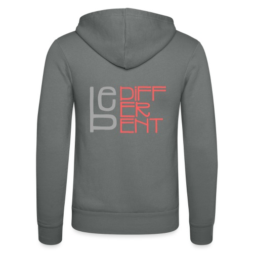 Be different - Fun Spruch Statement Sprüche Design - Unisex Hooded Jacket by Bella + Canvas