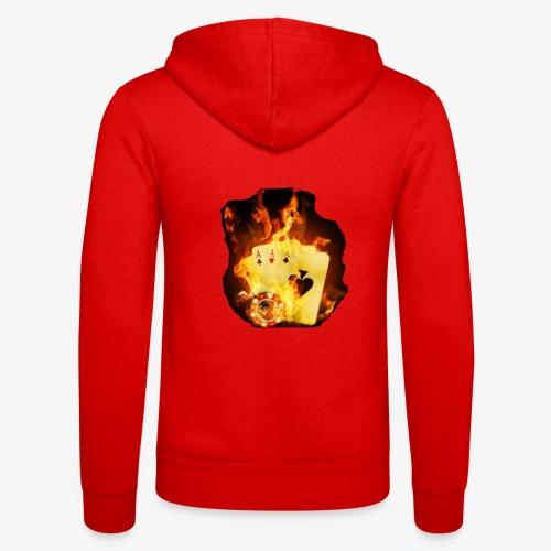 Flamme THE TEXAS HOLDEM - Unisex Kapuzenjacke von Bella + Canvas