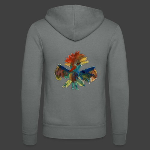 Mayas bird - Unisex Hooded Jacket by Bella + Canvas