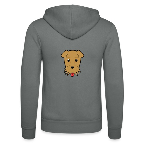 Shari the Airedale Terrier - Unisex Hooded Jacket by Bella + Canvas