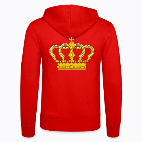 Golden crown - Unisex Hooded Jacket by Bella + Canvas