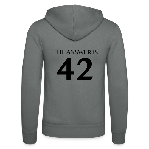 The Answer is 42 Black - Unisex Hooded Jacket by Bella + Canvas