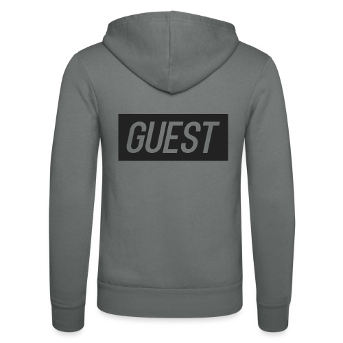 G-rectangle (grey) - Unisex Hooded Jacket by Bella + Canvas
