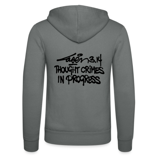 Thought Crimes In Progres - Unisex Hooded Jacket by Bella + Canvas