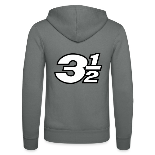Three and a Half Logo - Unisex Hooded Jacket by Bella + Canvas
