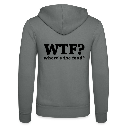 WTF - Where's the food? - Unisex hoodie van Bella + Canvas