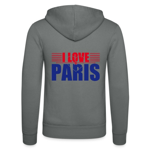 love paris - Veste à capuche unisexe Bella + Canvas