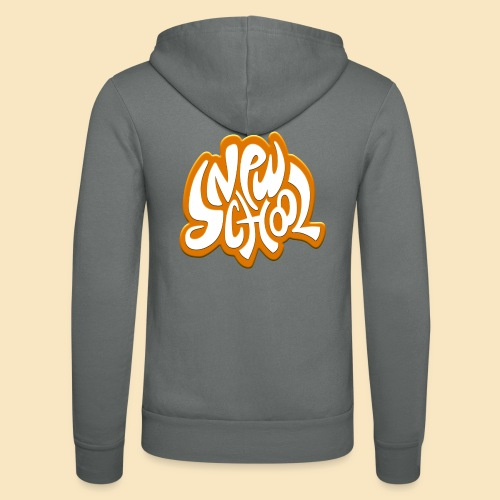 New School orange - Unisex Kapuzenjacke von Bella + Canvas