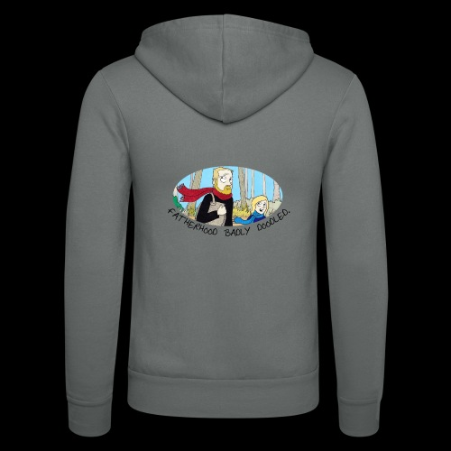 Fatherhood Badly Doodled - Unisex Hooded Jacket by Bella + Canvas