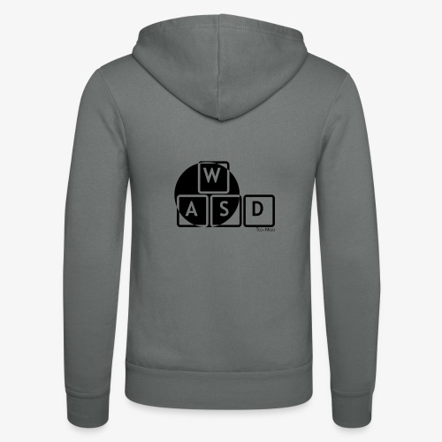 WASD Gaming is Life - Unisex Hooded Jacket by Bella + Canvas