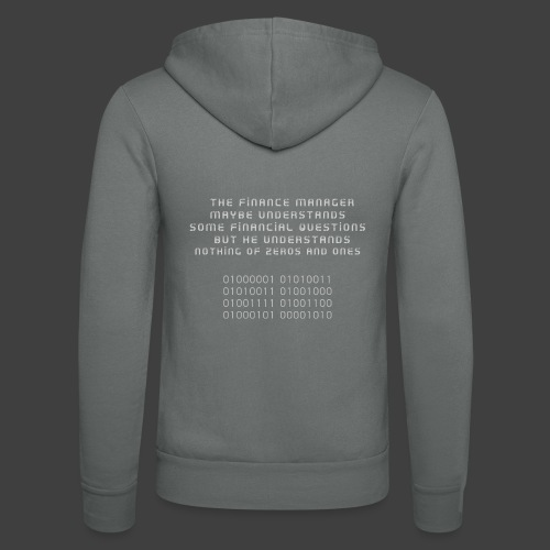 The Financial - Unisex Hooded Jacket by Bella + Canvas