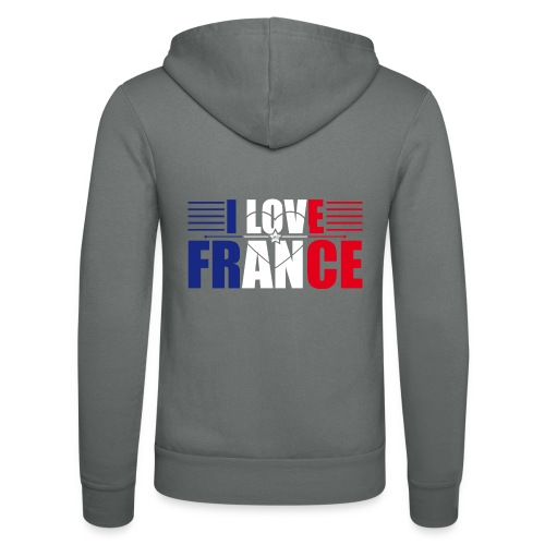 love france - Veste à capuche unisexe Bella + Canvas