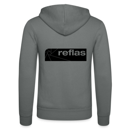 Reflas Clothing Black/Gray - Felpa con cappuccio di Bella + Canvas