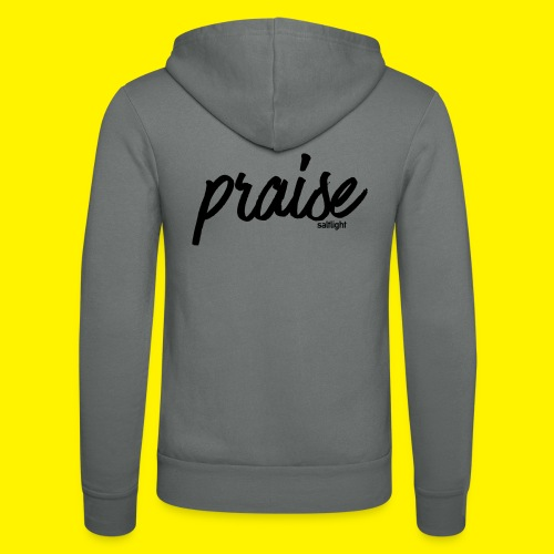 Praise (BLACK) - Unisex Hooded Jacket by Bella + Canvas