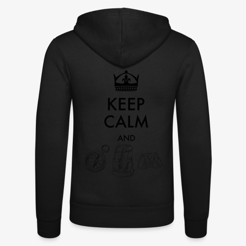 keepcalmandexplore - Unisex Hooded Jacket by Bella + Canvas