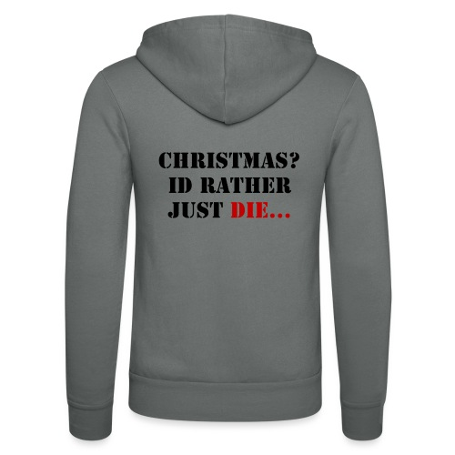 Christmas joy - Unisex Hooded Jacket by Bella + Canvas