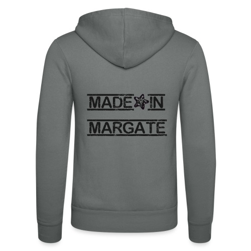 Made in Margate - Black - Unisex Hooded Jacket by Bella + Canvas