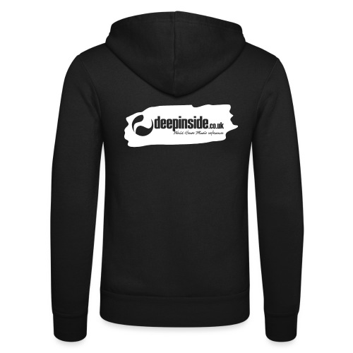 deepinside world reference marker logo white - Unisex Hooded Jacket by Bella + Canvas