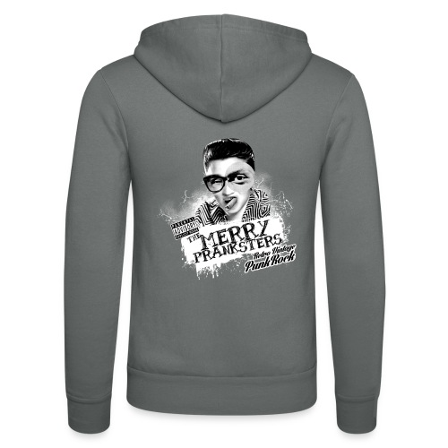 The Merry Pranksters - Woman Black T-Shirt - Unisex Hooded Jacket by Bella + Canvas