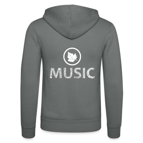 logo bashk music e bardhe - Unisex Hooded Jacket by Bella + Canvas