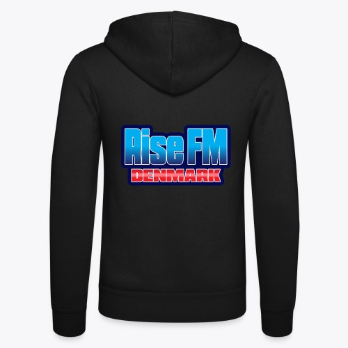 Rise FM Denmark Text Only Logo - Unisex Hooded Jacket by Bella + Canvas