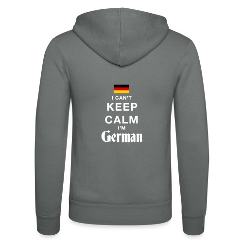 I CAN T KEEP CALM german - Unisex Kapuzenjacke von Bella + Canvas