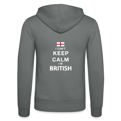 I CAN T KEEP CALM british - Unisex Kapuzenjacke von Bella + Canvas