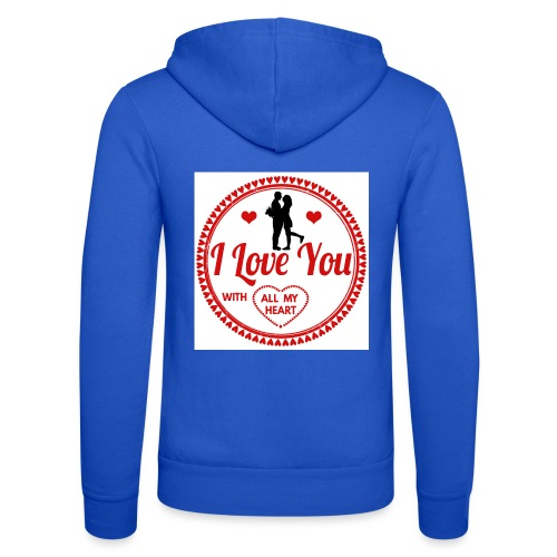 I love you tshirt - Veste à capuche unisexe Bella + Canvas