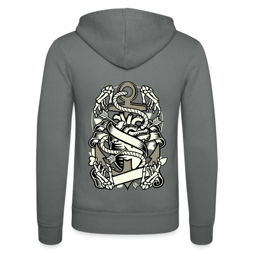Heart and anchor - Unisex Kapuzenjacke von Bella + Canvas
