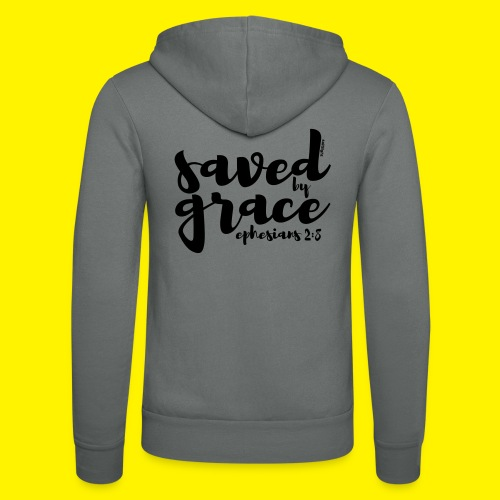 SAVED BY GRACE - Ephesians 2: 8 - Unisex Hooded Jacket by Bella + Canvas