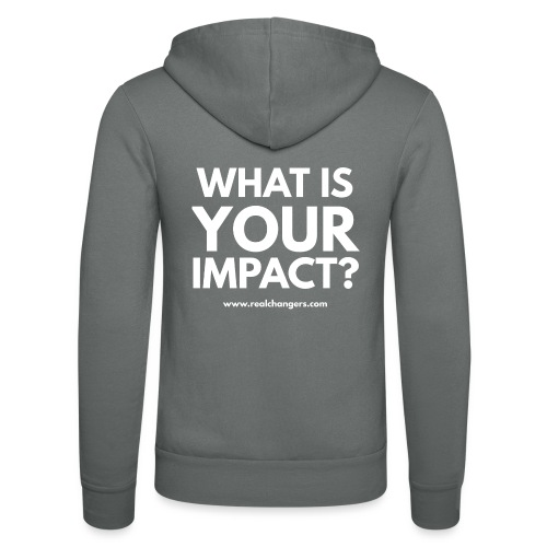 whatisyourimpact - Unisex Hooded Jacket by Bella + Canvas