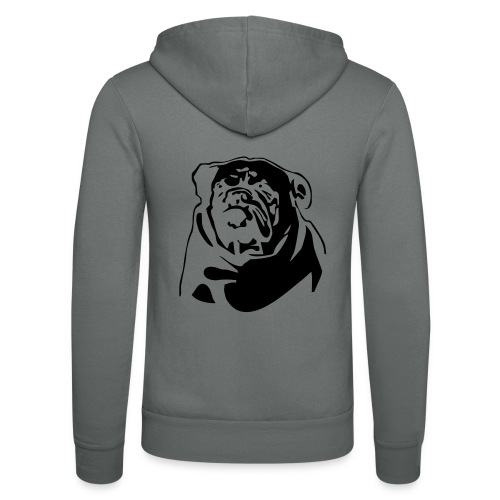 English Bulldog - negative - Unisex Bella + Canvas -hupputakki