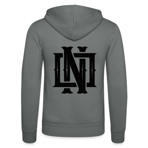 Nineone Monogram NO 01 black - Unisex Kapuzenjacke von Bella + Canvas