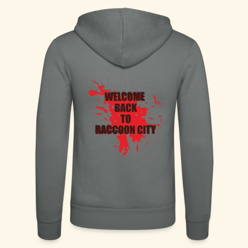 Welcome Back to Raccoon City TEXT 01 - Unisex Hooded Jacket by Bella + Canvas