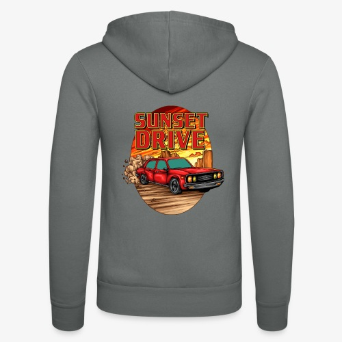 Sunset Drive - Unisex Kapuzenjacke von Bella + Canvas