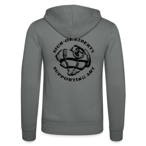 Sign-of-Liberty Supporting Art schwarz - Unisex Kapuzenjacke von Bella + Canvas
