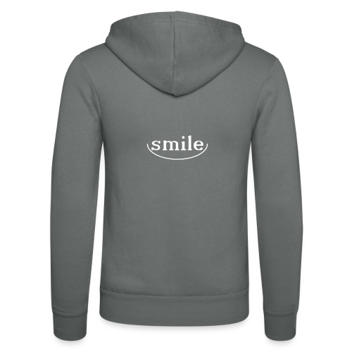 Just smile! - Unisex Hooded Jacket by Bella + Canvas