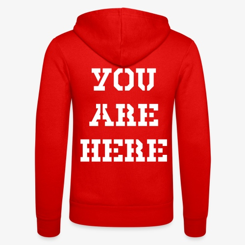 YOU ARE HERE - Unisex Kapuzenjacke von Bella + Canvas