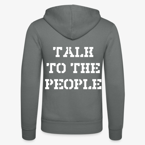 Talk to the people - weiß - Unisex Kapuzenjacke von Bella + Canvas