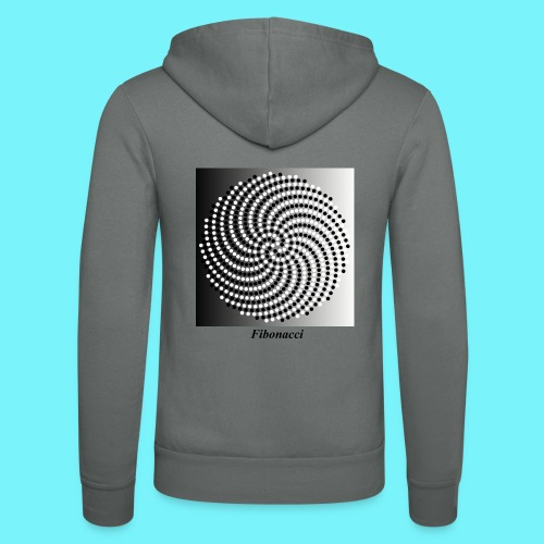 Fibonacci spiral pattern in black and white - Unisex Hooded Jacket by Bella + Canvas
