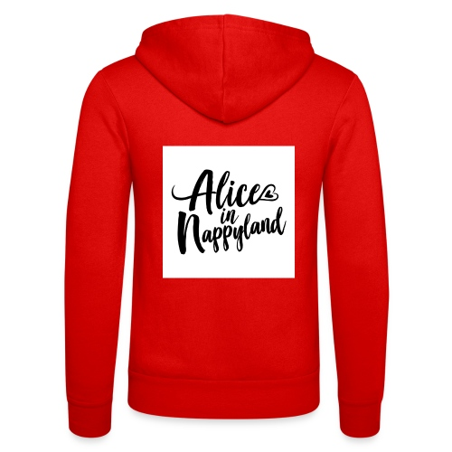 Alice in Nappyland Typography Black 1080 1 - Unisex Hooded Jacket by Bella + Canvas