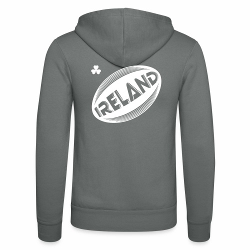 Ireland Rugby Ball - Unisex Hooded Jacket by Bella + Canvas