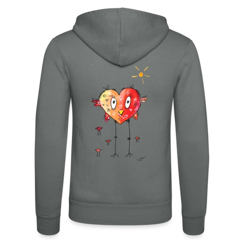 Happy heart - Unisex Kapuzenjacke von Bella + Canvas