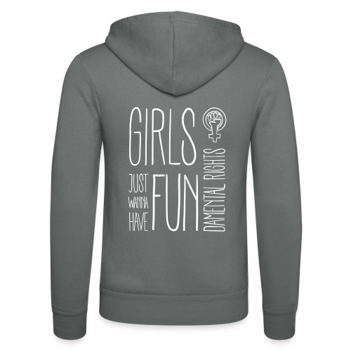 Girls just wanna have fundamental rights - Unisex Kapuzenjacke von Bella + Canvas