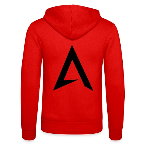 alpharock A logo - Unisex Hooded Jacket by Bella + Canvas