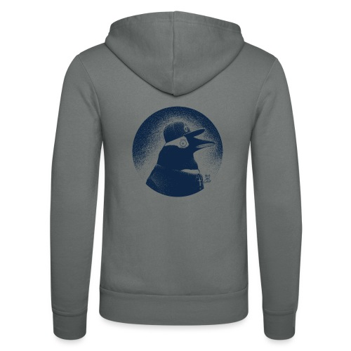 Pinguin dressed in black - Unisex Hooded Jacket by Bella + Canvas