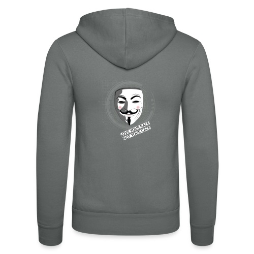 Anonymous Love Your Rage - Unisex Hooded Jacket by Bella + Canvas