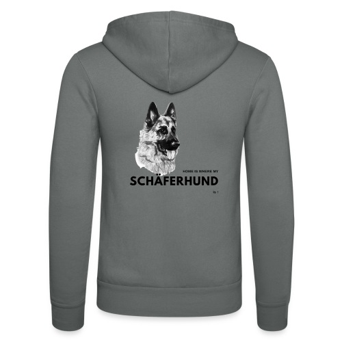 Home is where my Schäferhund is ! - Unisex Kapuzenjacke von Bella + Canvas