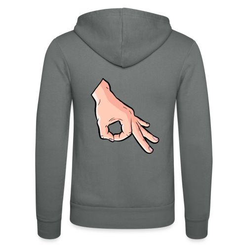 The Circle Game Ok Emoji Meme - Unisex Hooded Jacket by Bella + Canvas